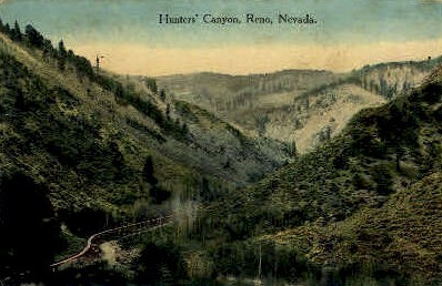 Hunter's Canyon - Reno, Nevada NV Postcard