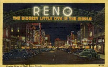 Biggest Little City in the World - Reno, Nevada NV Postcard