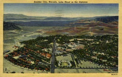 Lake Mead in the Distance - Boulder City, Nevada NV Postcard