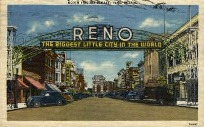 The Biggest Little City in the World - Reno, Nevada NV Postcard