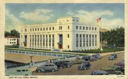 A Post Office - Reno, Nevada NV Postcard