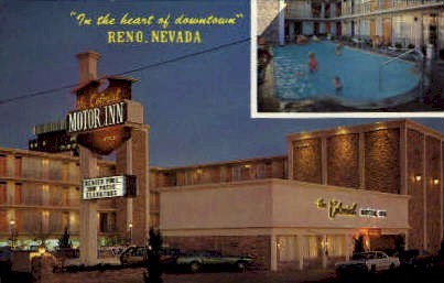 In the Heart of Downtown - Reno, Nevada NV Postcard