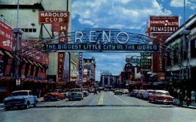 Virginia Street Arch - Reno, Nevada NV Postcard