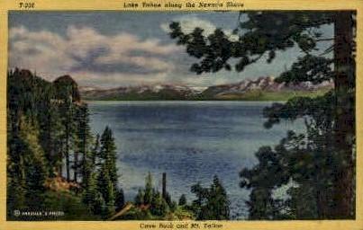 Lake Tahoe Shore - Nevada NV Postcard