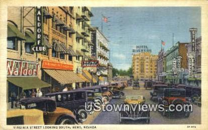 Virginia Street - Reno, Nevada NV Postcard