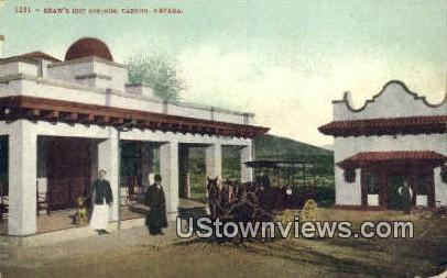 Shaw's Hot Springs - Carson, Nevada NV Postcard