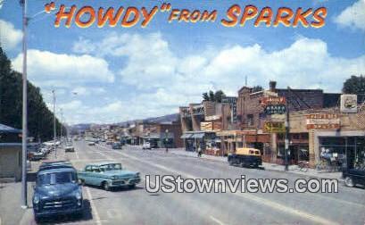 Sparks, NV,     ;     Sparks, Nevada Postcard
