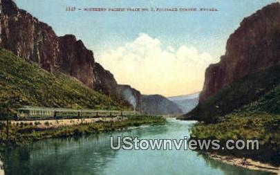 Southern Pacific Train No 2 - Palisade Canyon, Nevada NV Postcard