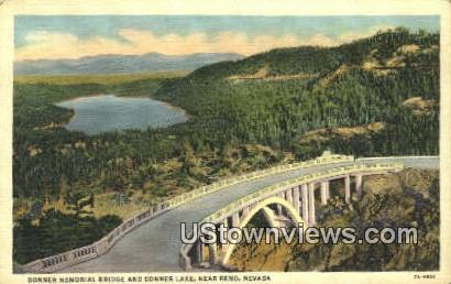 Donner Memorial Bridge - Reno, Nevada NV Postcard