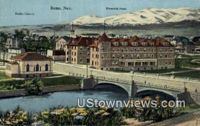 Public Library, Riverside Hotel - Reno, Nevada NV Postcard