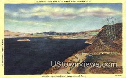 Lakeview Point, Lake Mead - Hoover (Boulder) Dam, Nevada NV Postcard