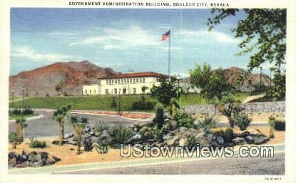 Government Admin Bldg - Boulder City, Nevada NV Postcard