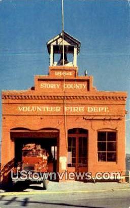 Storey County Fire Dept - Virginia City, Nevada NV Postcard