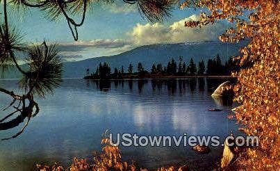 Lake Tahoe, Nevada,     ;     Lake Tahoe, NV Postcard