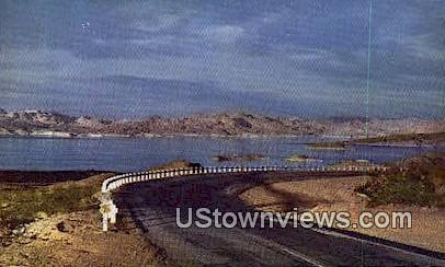 Highway - Lake Mead, Nevada NV Postcard