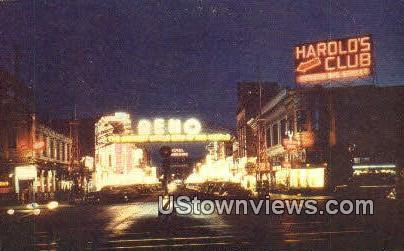 Reno, NV,     ;     Reno, Nevada Postcard