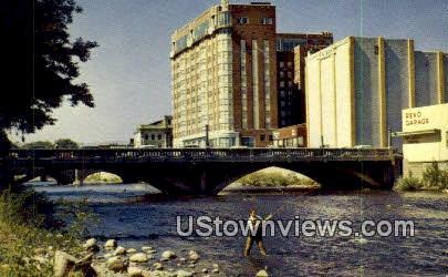 Fishing on Truckee River - Nevada NV Postcard