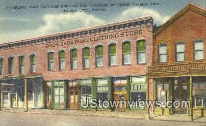Original Roos Brothers Bldg - Virginia City, Nevada NV Postcard