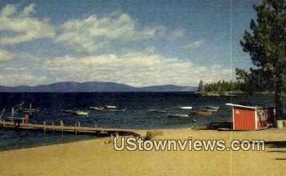 Zephyr Cove Beach - Lake Tahoe, Nevada NV Postcard
