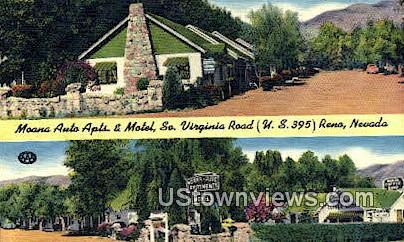 Moana Auto Apts & Motel - Reno, Nevada NV Postcard