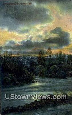 Truckee River, Nevada,     ;     Truckee River, NV Postcard