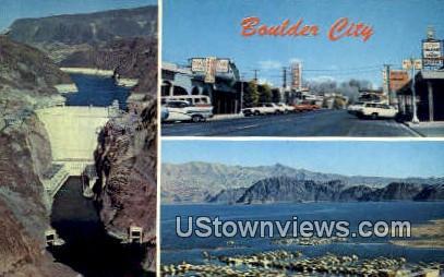 Hoover Dam - Boulder City, Nevada NV Postcard