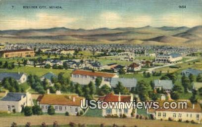 Boulder City, NV,     ;     Boulder City, Nevada Postcard