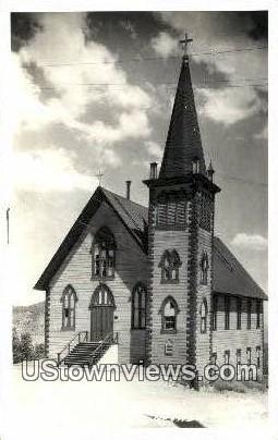 Real Photo - St Pauls Church - Virginia City, Nevada NV Postcard