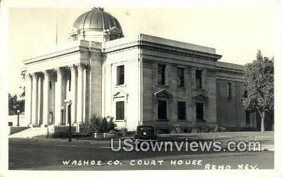 Real Photo - Washoe County Court House - Reno, Nevada NV Postcard