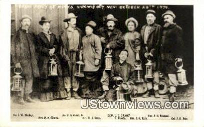 Real Photo - Grant Party - Virginia City, Nevada NV Postcard