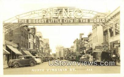 Real Photo - North Virginia Street - Reno, Nevada NV Postcard