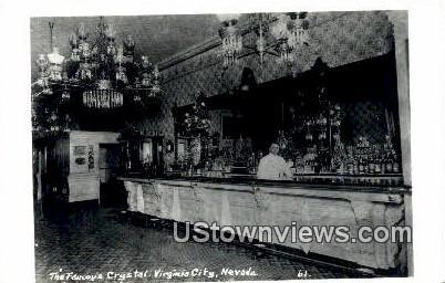 Real Photo - Famous Crystal - Virginia City, Nevada NV Postcard