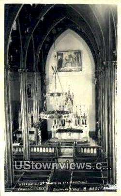 Real Photo - St Mary's in the Mountains Church - Virginia City, Nevada NV Postcard
