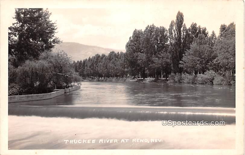 Truckee River - Reno, Nevada NV Postcard