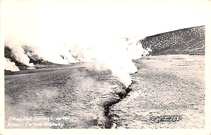 Reno Hot Springs - Nevada NV Postcard