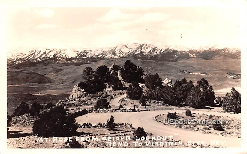 Mount Rose - Reno, Nevada NV Postcard