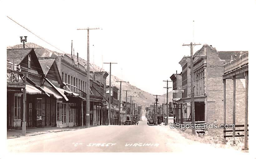 C Street - Virginia City, Nevada NV Postcard