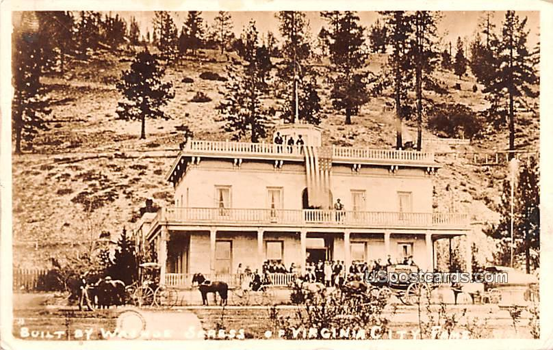 Built by Washoe Seress - Virginia City, Nevada NV Postcard
