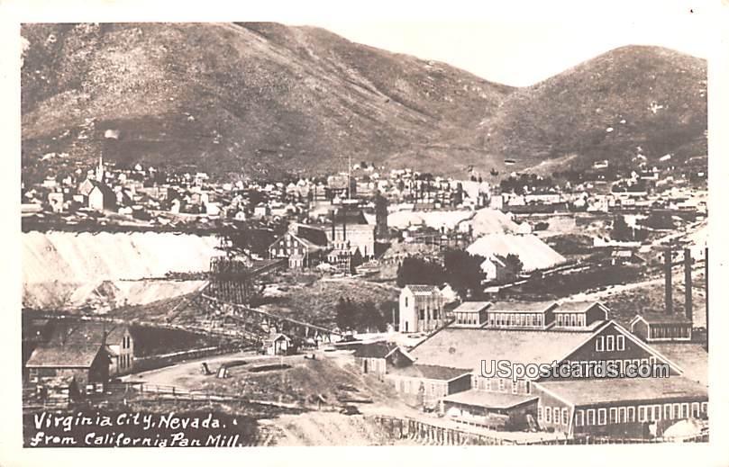 Birds Eye View - Virginia City, Nevada NV Postcard
