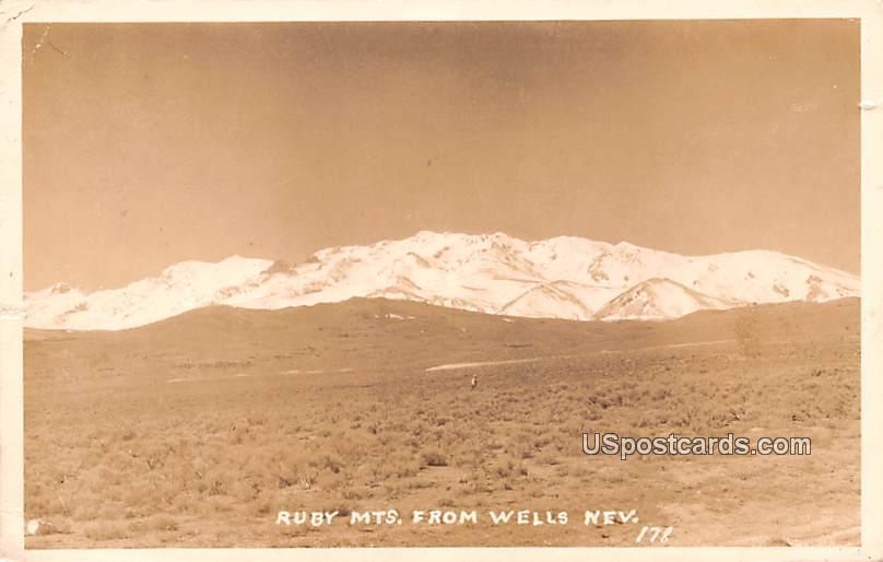 Ruby Mountains - Wells, Nevada NV Postcard
