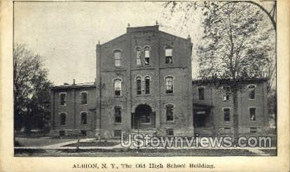 The Old High School Bldg - Albion, New York NY Postcard