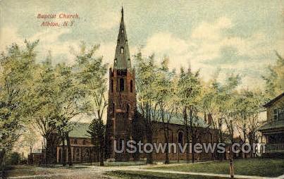 Baptist Church - Albion, New York NY Postcard