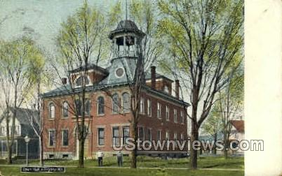 Town Hall - Allegany, New York NY Postcard