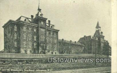 St. Elizabeth's Academy - Allegany, New York NY Postcard