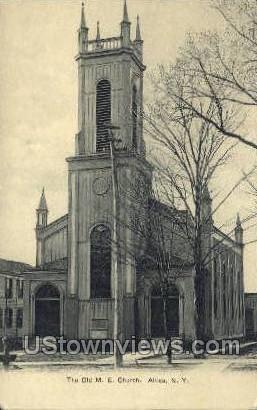 The Old M.E. Church - Attica, New York NY Postcard