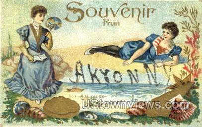 Akron, New York, NY Postcard