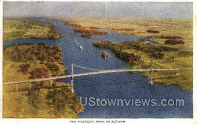 Thousand Island International Bridge - Alexandria Bay, New York NY Postcard
