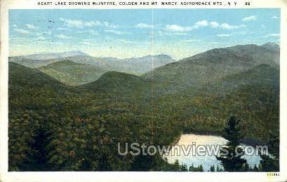 Heart Lake - Adirondack Mts, New York NY Postcard