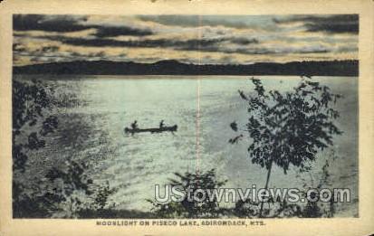 Piseco Lake - Adirondack Mts, New York NY Postcard