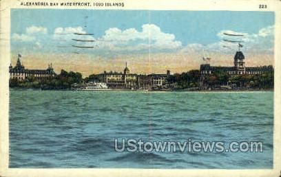 Thousand Islands - Alexandria Bay, New York NY Postcard